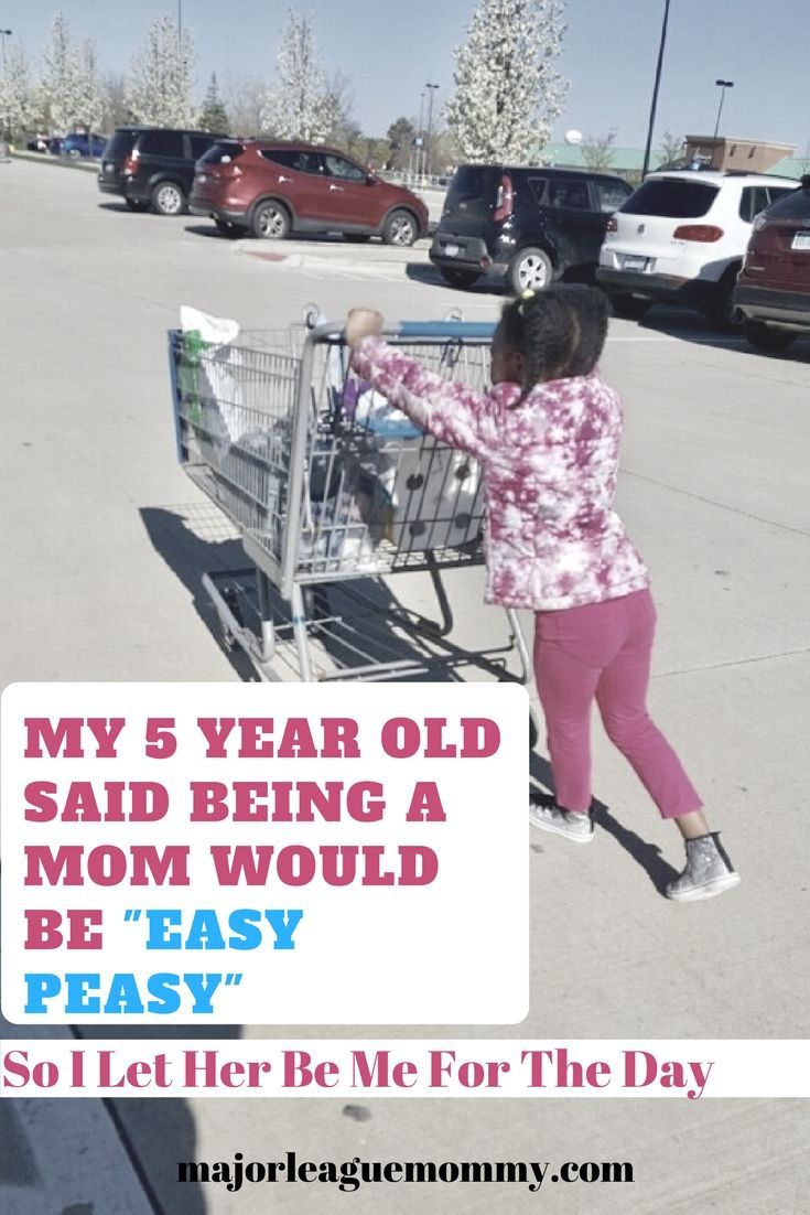 """My 5 Year Old Said Being a Mom Would Be """"Easy Peasy,"""" So I Let Her Be Me for the Day"""