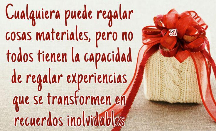 Cualquiera puede regalar cosas materiales, pero no todos tienen la capacidad de regalar experiencias que se transformen en recuerdos inolvidables