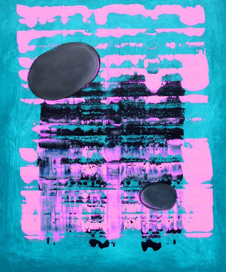 No title, acrylic on canvas, 100 x 81 cm, Maciej Zabawa