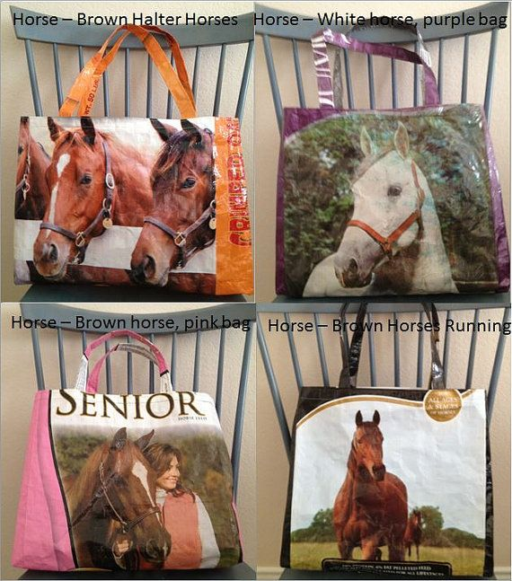 Upcycled Feed Sack Tote/Shopping Bags