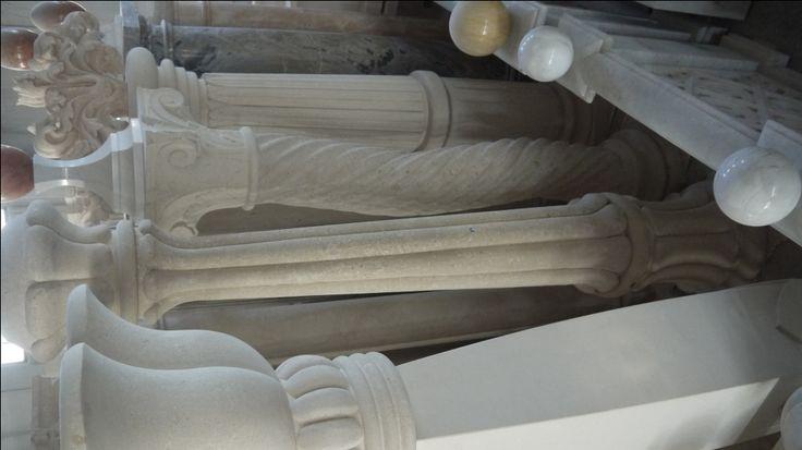 Column in stone - http://achillegrassi.com/en/colonne-in-pietra-bianca-di-vicenza-2/ - Column in white stone from Vicenza Dimensions:  300cm x 50cm x 50cm