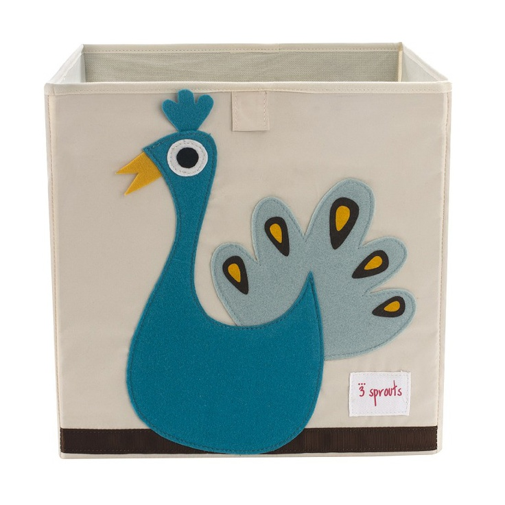 3 Sprouts Storage Bin. #laylagrayce #turquoise: Peacock Storage, Peacocks, Storage Boxes, 3 Sprouts, Baby, Sprouts Storage, 3Sprouts, Kid