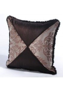 "Cushion Cover Criss Cross 16"" X 16"" Chocolate"