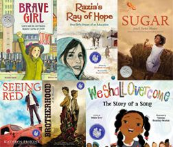 "Jane Addams Peace Association Children's Book Awards: honoring books that ""effectively promote the cause of peace, social justice, world community, and the equality of the sexes and all races as well as meeting conventional standards for excellence."""