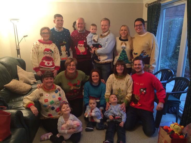Homemade Cheesy Christmas jumper party