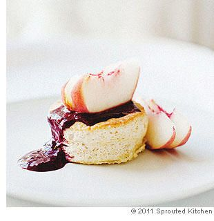 Ginger Cakes With White Peaches and Blackberry Coulis: Coulis Add Slow ...