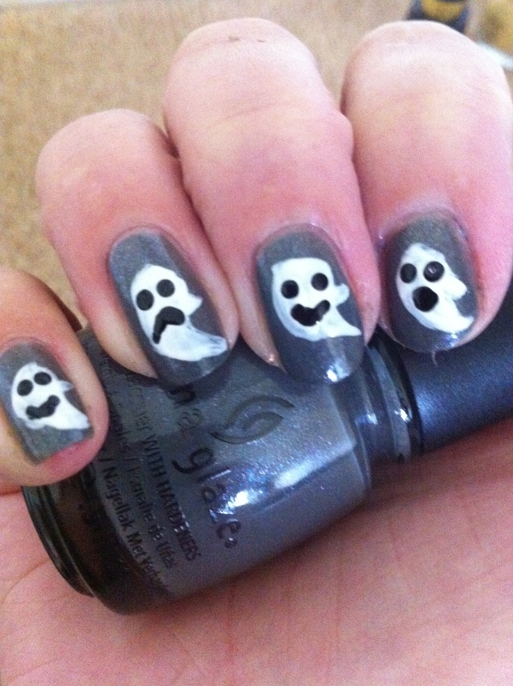 Ghosts go bump in the night and the background polish is immortal China Glaze :)
