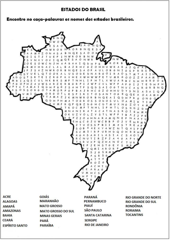 caça palavras de geografia estados