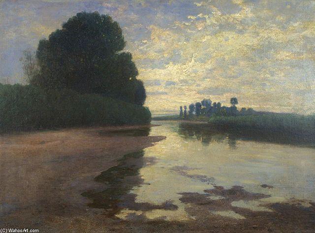 Svítání Na Labi de Vaclav Jansa (1859-1913, Czech Republic)