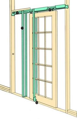 COBURN Hideaway Pocket Door Kit - The kit is a simple way to increase available space in many domestic applications.