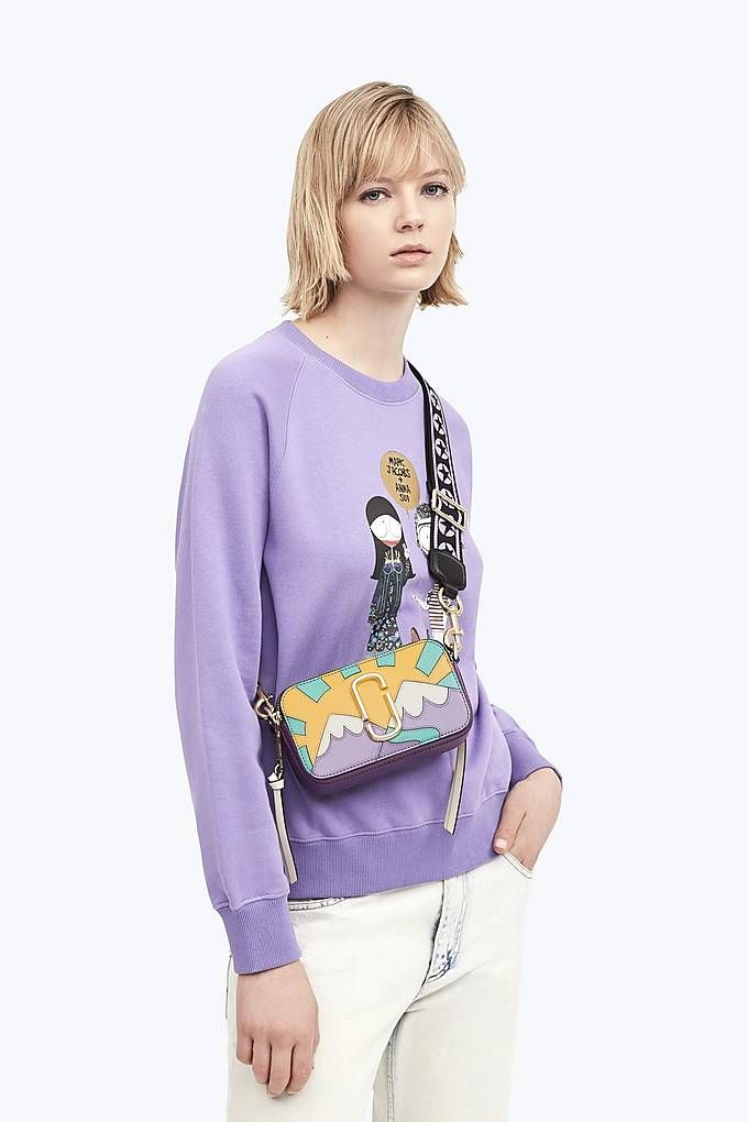 d2cef092be Marc and Anna Patch Snapshot - Purple Multi. Find this Pin and more on MARC  JACOBS BAGS ...