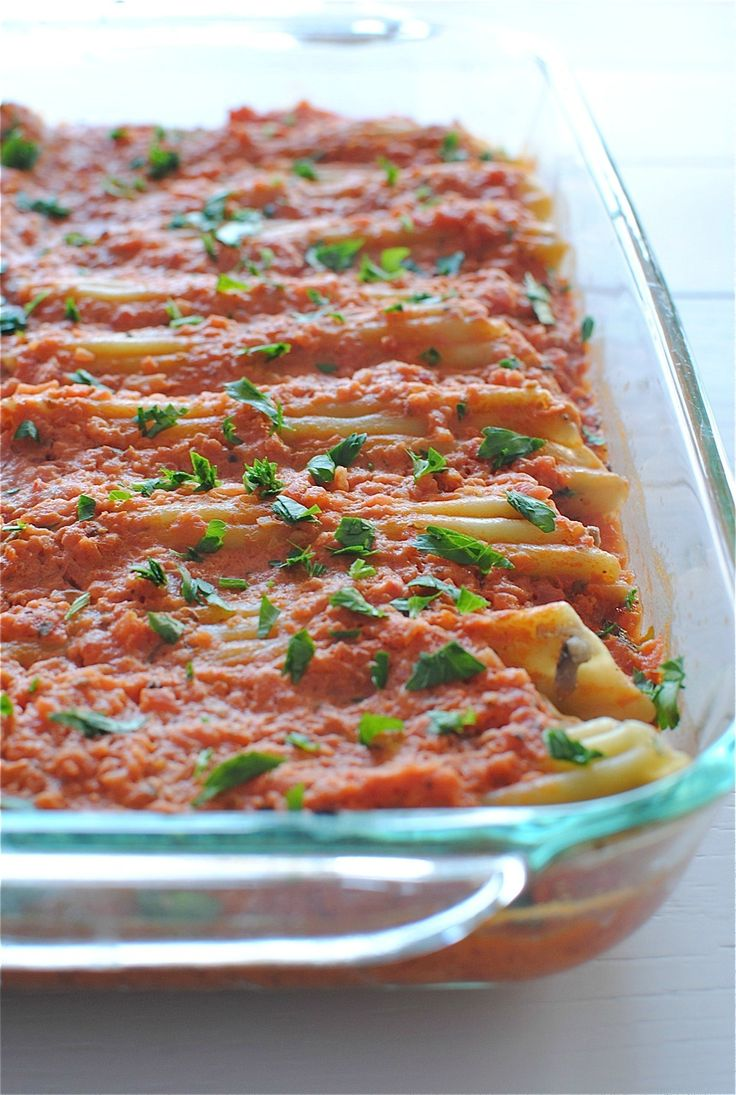 Chicken, Spinach and Mushroom Manicotti | Bev Cooks