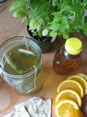 "Dr. Oz featured a recipe for Tangerine Mint Green Tea as part of a series of foods that help one lose weight.  He called it Tangerine ""Weight-Orade.""   Green tea is rich in catechins, which reduce growth of blood vessels needed for tumor growth."
