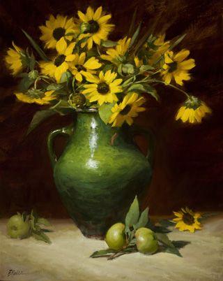 Sunflowers from the field by Elizabeth Robbins Pruitt