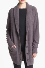 Leith Shawl Collar Cardigan in Gray (Grey- Rabbit) - Lyst