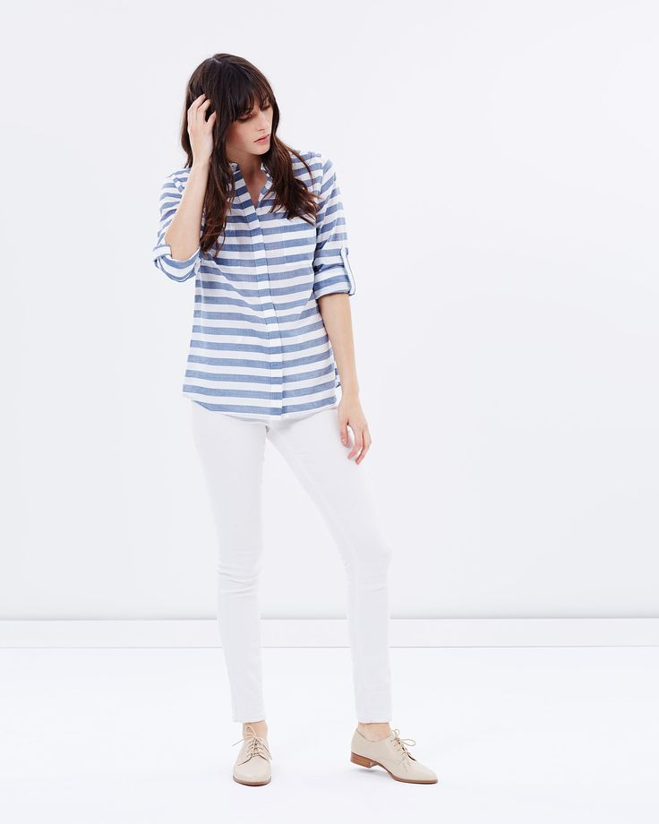 Cotton Stripe Shirt by Oasis Online | THE ICONIC | Australia