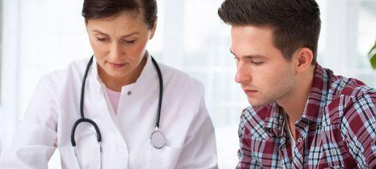 doctor explaining techniques to delay ejaculation