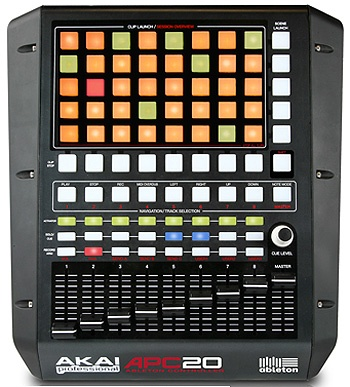 Akai APC20. A little out of date already, but still awesome with Ableton Live.