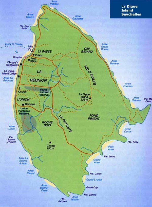 Praslinmapjpg Indian Ocean Islands Seychelles - Map of seychelles world