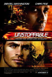 Unstoppable (2010) Denzel Washington, Chris Pine and Rosario Dawson. With an unmanned, half-mile-long freight train barreling toward a city, a veteran engineer and a young conductor race against the clock to prevent a catastrophe.