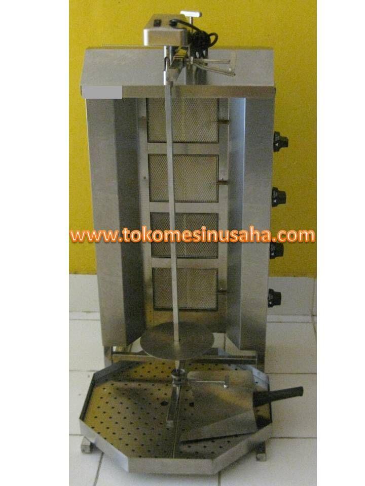 Mesin Pemanggang Daging Kebab adalah mesin yang digunakan untuk memanggang daging yang akan dijadikan kebab, mesin ini mampu memanggang rata daging dan akan mengahasilkan kematangan yang sempurna