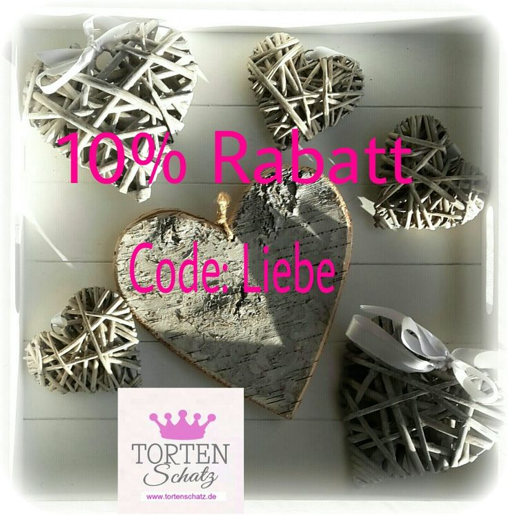 Rabatt zum Valentinstag!  Gutschein Code: Liebe  www.tortenschatz.de