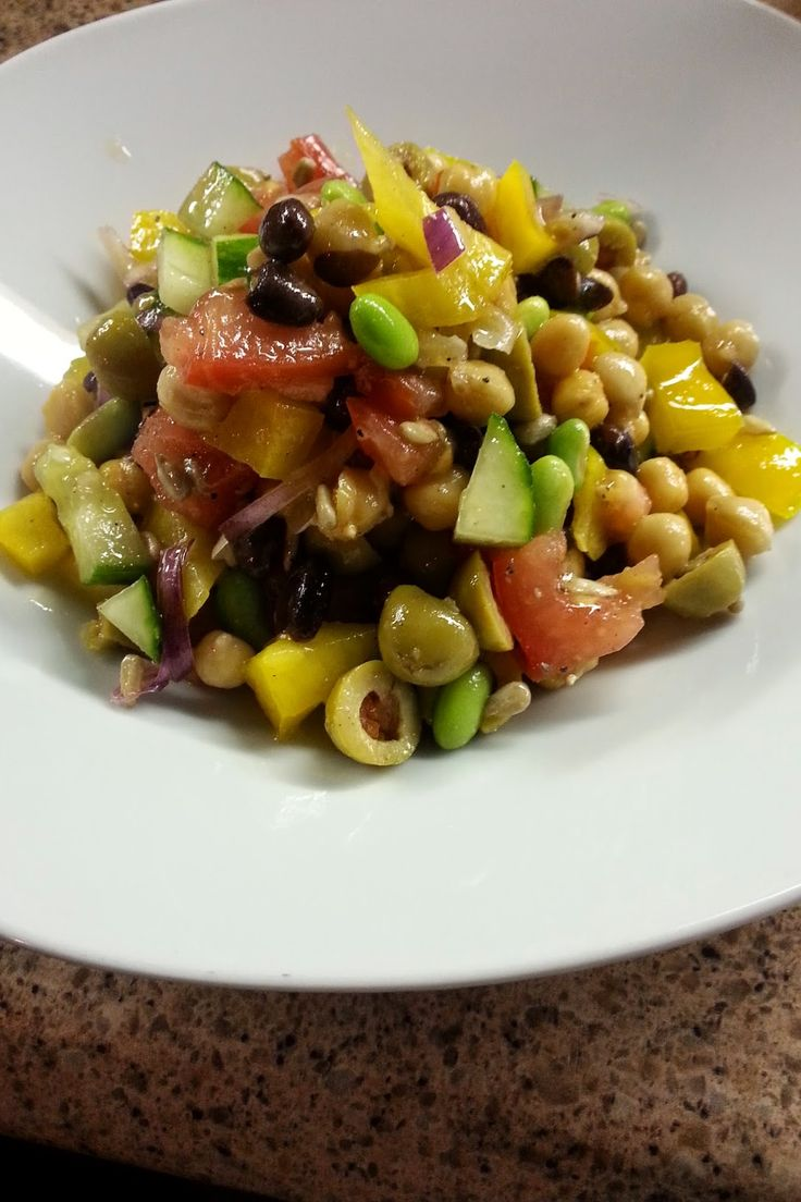 La cuisine de mamali : Salade de légumineuses à la grecque