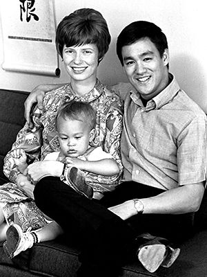 Linda Lee, Brandon Lee, and Bruce Lee, circa 1970