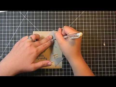 Trace around dies with white gel pen - a fantastic tutorial, I'm definitely going to try this!