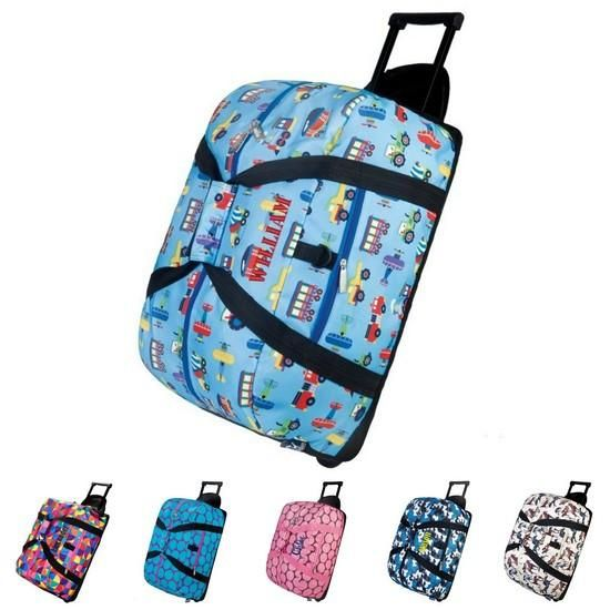 ... Description This Personalized Wildkin Rolling Duffel makes a great  travel bag for child. These bags ... 6d9b9543fd