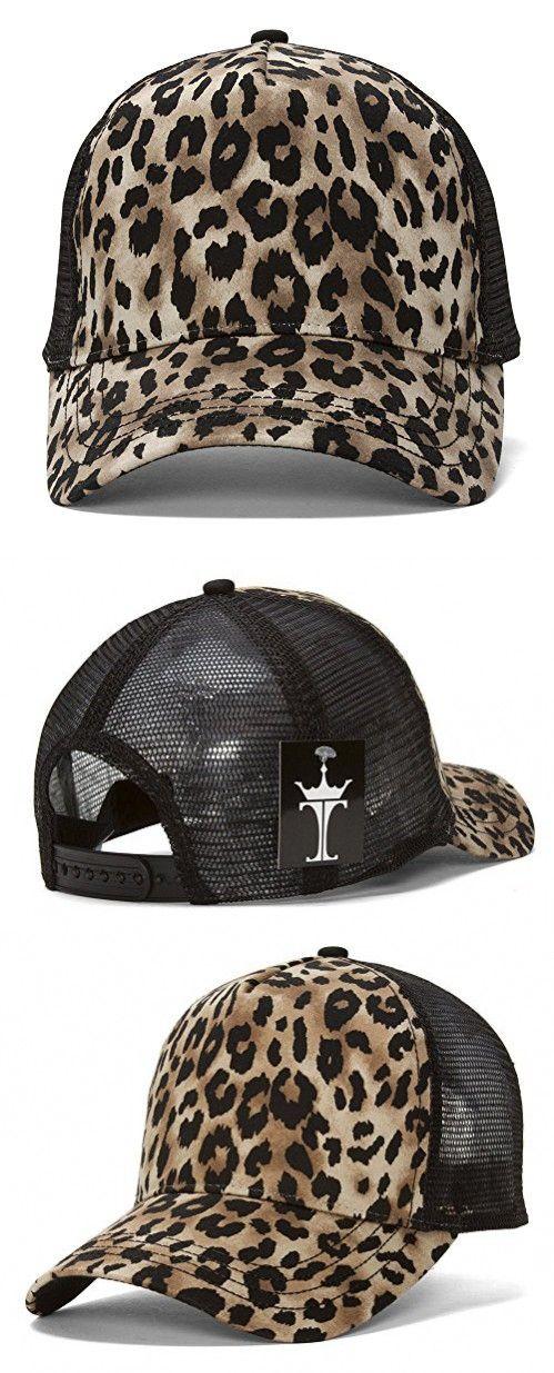 Animal Print Fashion Trucker Cap - Brown Cheetah Print  c7d05c6abd4