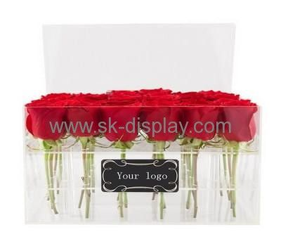 Plexiglass company customize acrylic modern flower boxes for sale DBS-237