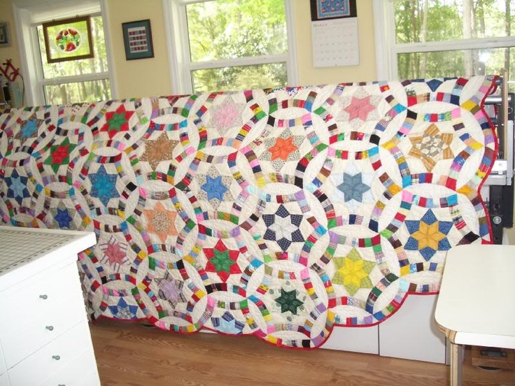 golden wedding ring quilt - Wedding Ring Quilts