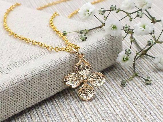 Clover Necklace Four Leaf Clover Necklace Lucky Clover