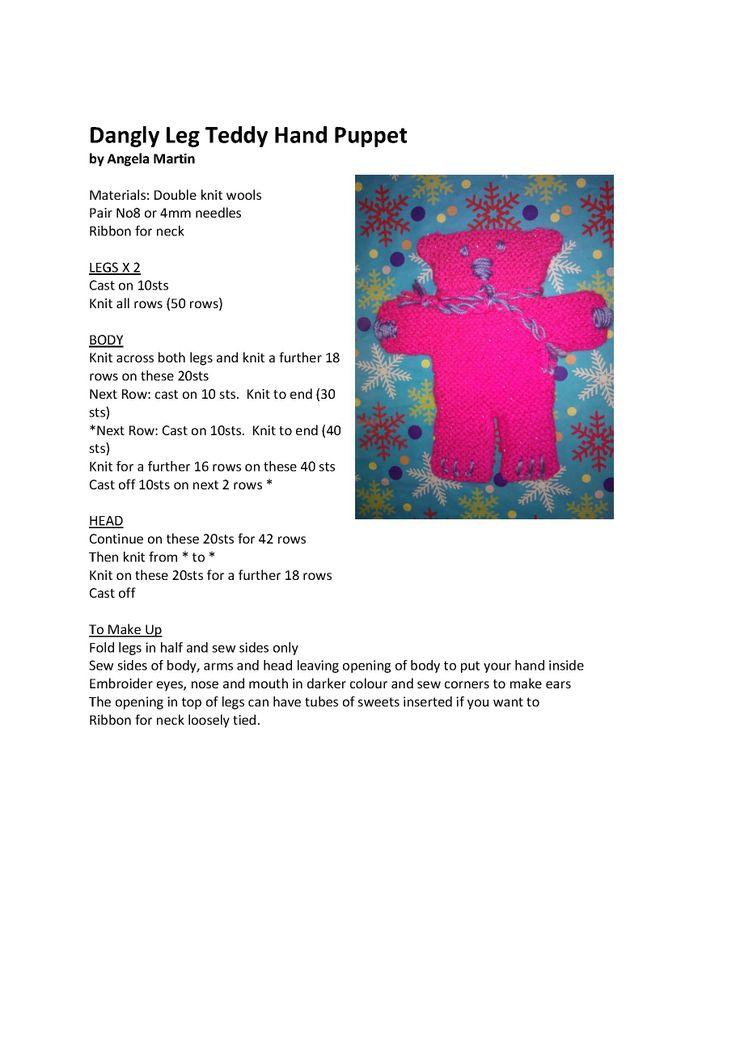Dangly leg puppet - pattern & image