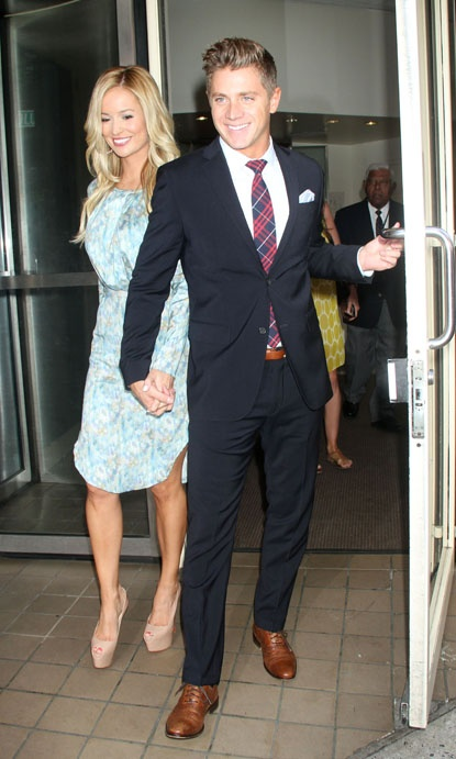 """""""The Bachelorette"""" Emily Maynard and her new fiance Jef Holm seen in New York City."""