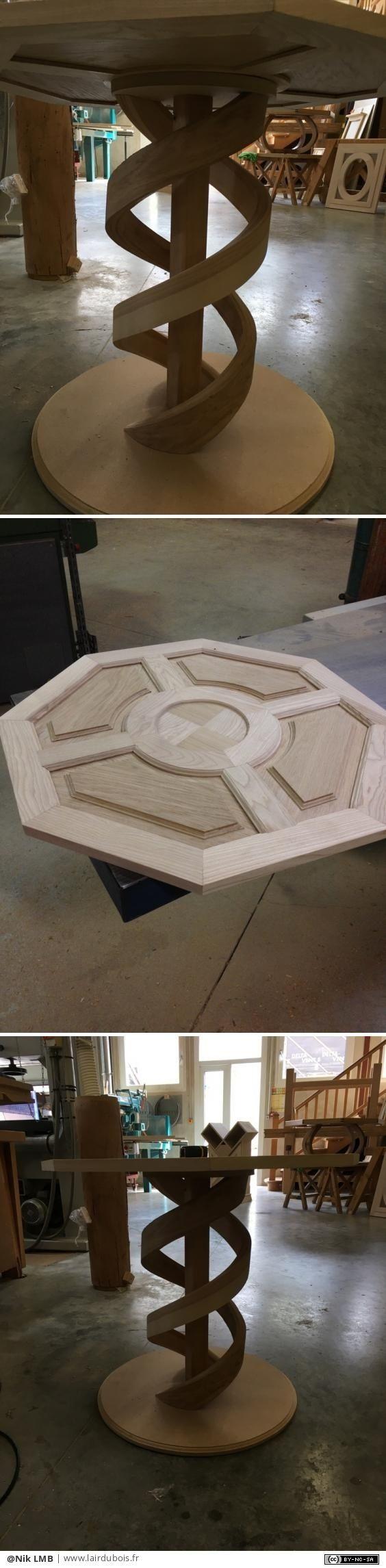 Pied de table par Nik LMB - Bonjour,  Il y a quelques temps je vous avais présenter la réalisation d'une maquette d'un octogone ([ici](https://www.lairdubois.fr/creations/3977-maquette-octogone.html))  Je vous avais dit que je...