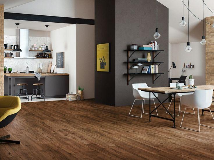 Pavimento in gres porcellanato effetto legno WOODTALE by Ragno