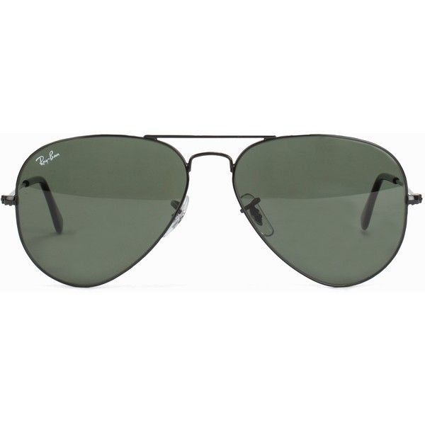 Ray Ban Rb 3025 Aviator ($195) ❤ liked on Polyvore featuring accessories, eyewear, sunglasses, glasses, lunettes, black, womens-fashion, ray ban sunnies, gold sunglasses and aviator sunglasses