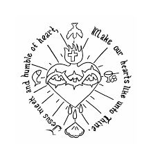 colouring page of immaculate heart of mary - Google Search
