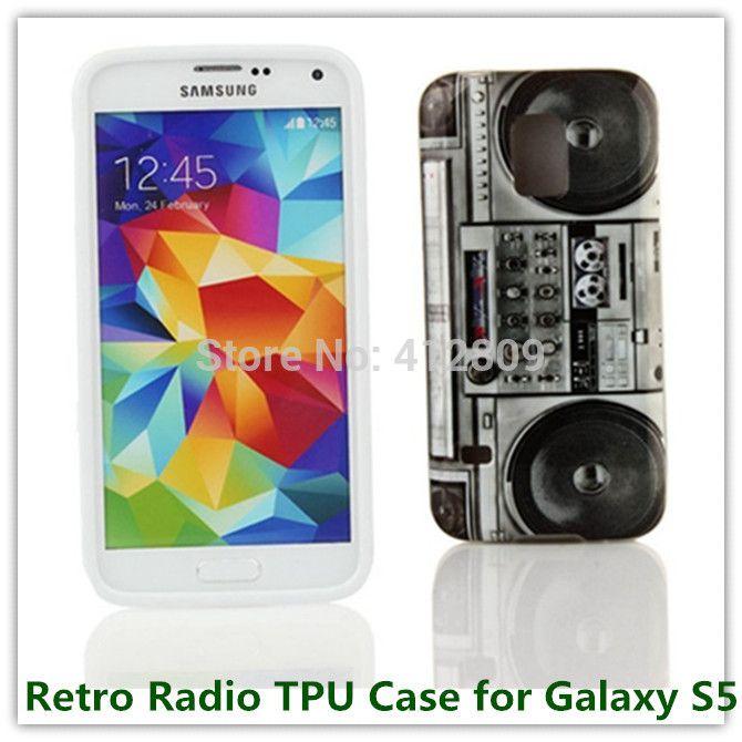1 шт. прямая поставка мода цветочным узором Rerto радио TPU IMD чехол для Samsung Galaxy S5 i9600 прекрасный чехлы телефонов