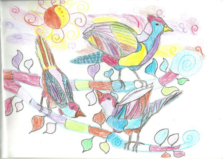 First birds in the birthday album