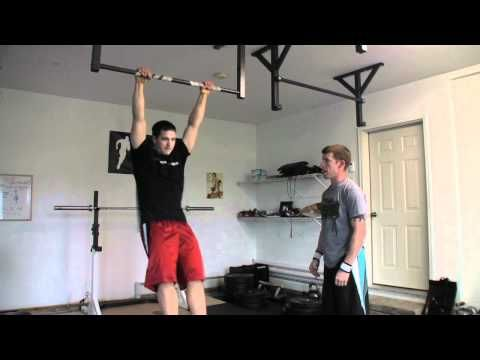 Again Faster - Kipping Knees-to-Elbow (progression for Toes-to-Bar)