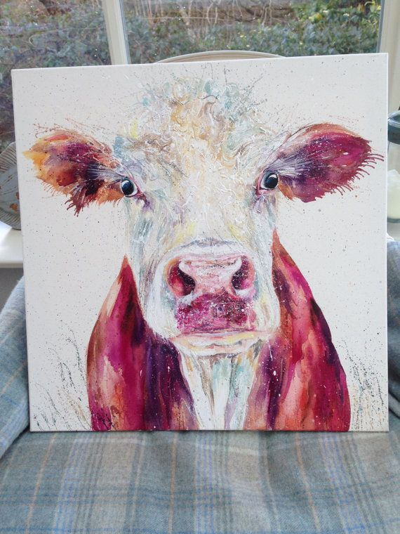 Hey, I found this really awesome Etsy listing at https://www.etsy.com/uk/listing/270932486/original-hereford-cow-painting