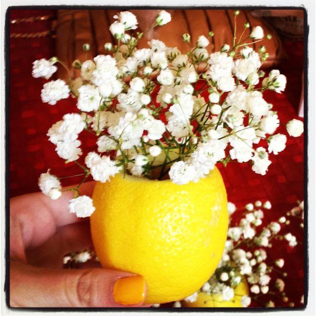 Lemon vases  lemonade party
