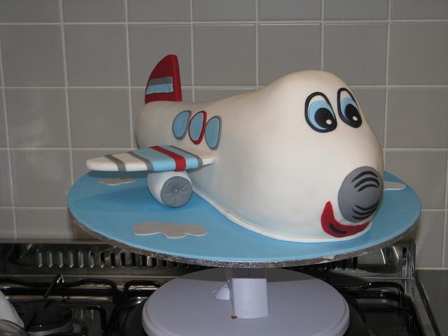 planet cake book - airplane cake
