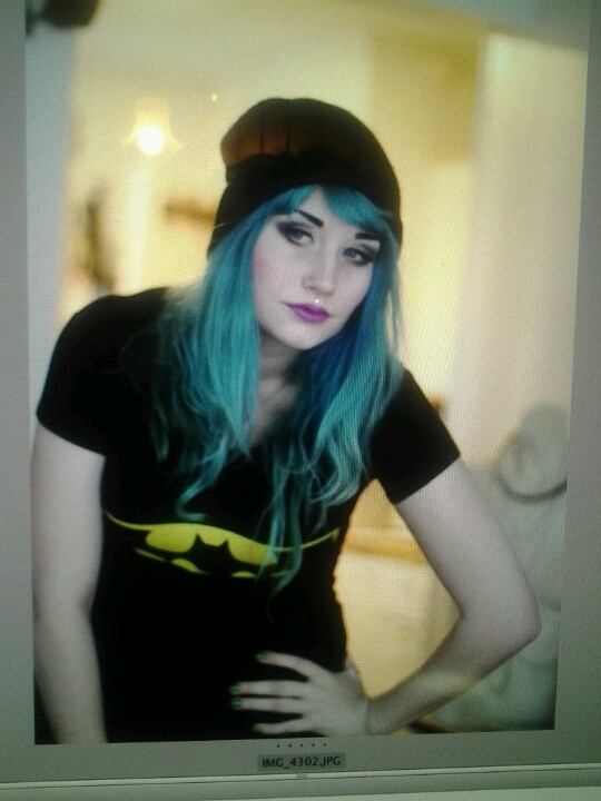 #bluehair #batman #makeup #norway