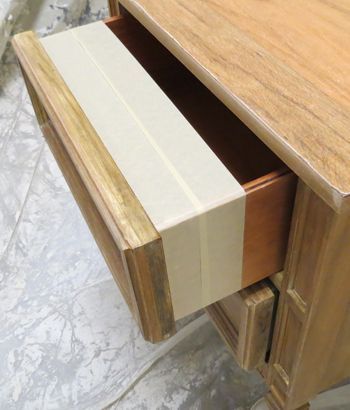 pSpray painting drawer fronts can be tricky.  If you pull the drawers out, then you will need to mask the entire drawer, except the drawer front. Then, you will also have the added problem of spraying the inside of the dresser or piece, which can cause the drawers not to /p