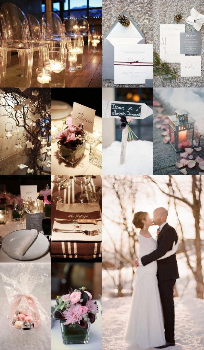 Wedding decorations on cars  Elegant Winter Wedding Ideas  themed weddings  Pinterest  Wedding