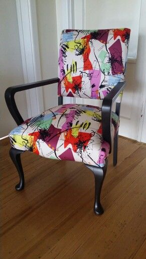 Queen Anne club.  Upholstered by Sally Noble